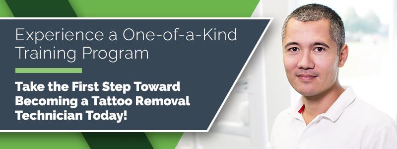 Take the first step toward becoming a tattoo removal technician today.