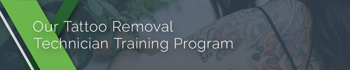 Our tattoo removal technician training program for experienced and non-experienced tattoo artists.
